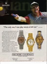 Jim Courier Rolex Air King Ad