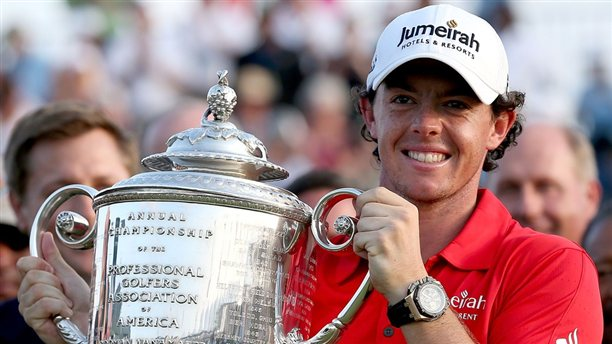 Rory McIlroy Historic Win Audemars Piguet Royal Oak Offshore Trophy Outside 2