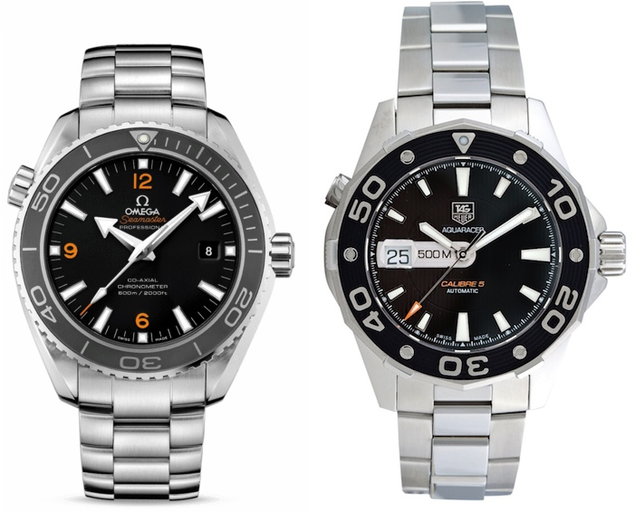 TAG Heuer Aquaracer and OMEGA Seamaster Planet Ocean