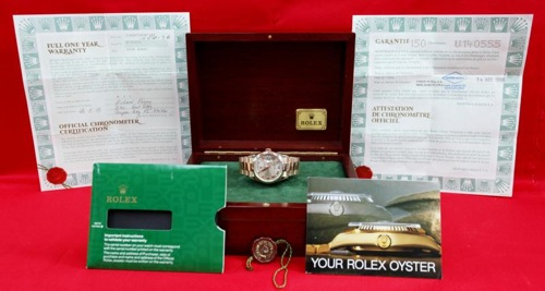 Box & Papers Rolex 118205